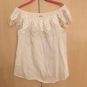 Merona white off the shoulder blouse